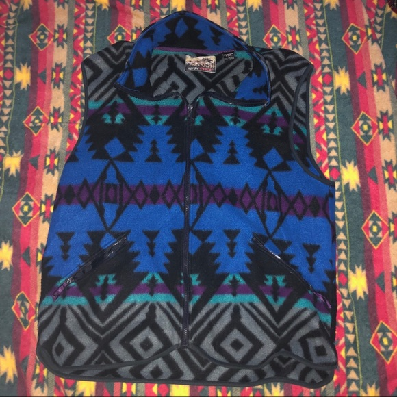 Other - Vintage Aztec Nordic fleece vest